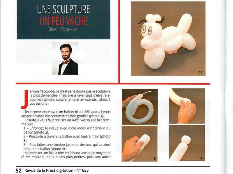 Professeur de sculpture de ballons à Paris